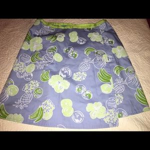 Lilly Pulitzer Skirt Wrap Sz 12 Pineapples/Gators